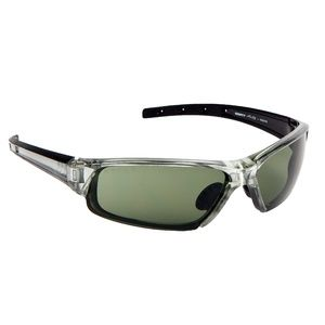 Sports Sunglasses: Clear Gray and Green Sunglasses